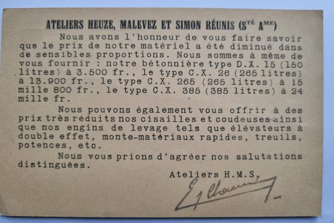 échanges avec un fournisseur : année 1932