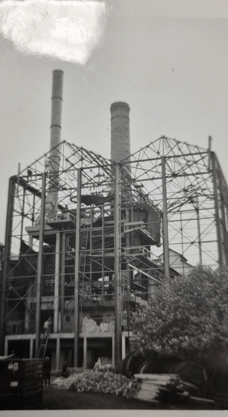 Construction d'une usine à Gaz IDEG avenue Allbert 1er à Namur en 1937
