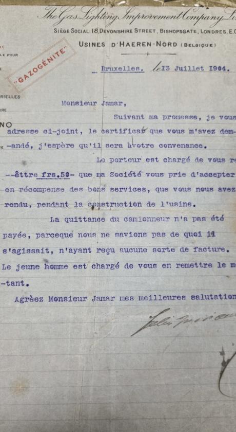 Attestations de bonne exécution datant de 1904